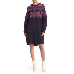 Solutions Sequin Sweater Dress L